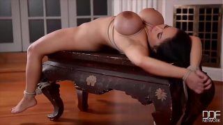 Anita B.'s Pussy and Ass Crammed by Two Masters in Intense DP BDSM Scene