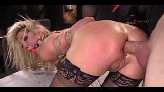 Blonde Lesbian Tied and Anal Punished While Crying