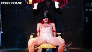 FORBONDAGE – German Amateur Laila Gets Covered In Hot Wax And BDSM Intense Punished