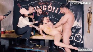 French Teen Tiffany Doll Tries BDSM And Gets Hardcore Fucked In Front Of Strangers