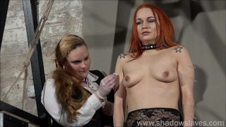 Redhead play piercing slave Marys lesbian bdsm and needle punishment of amateur