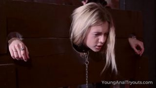 Young Anal Tryouts Sweet blonde goes down into the dungeon
